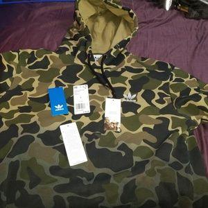 💯New💯 Adidas Camo Tye-Dye Hoodie